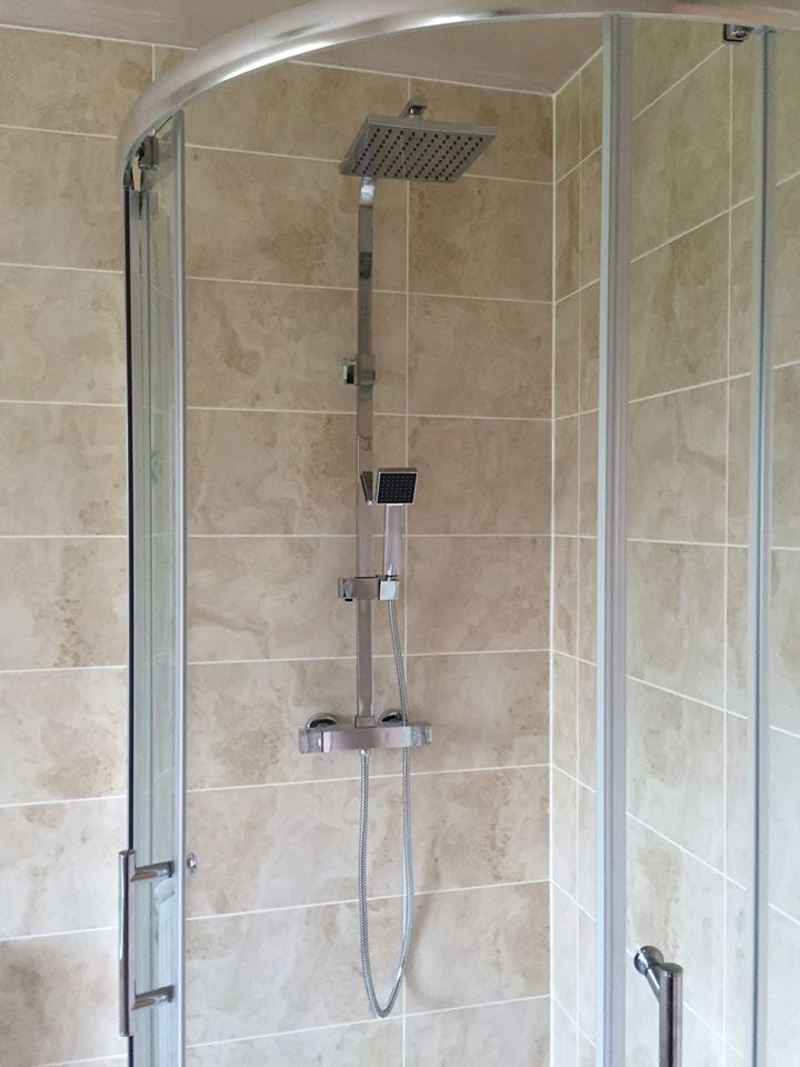 Traditional Bath & Modern Shower